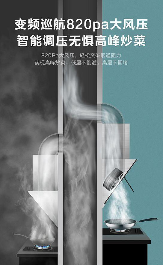 美的JV701烟机,拍了拍被油烟困扰的你